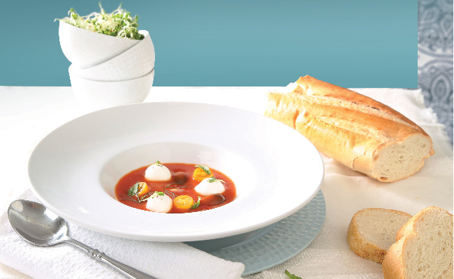 Chilled Heirloom Tomato Soup - Flava Cayman