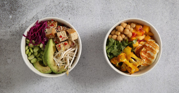 Two bowls of food