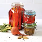 Pickled veges in jars