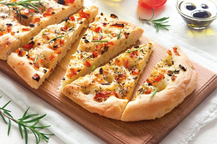 Rosemary and Sundried Tomato Focaccia