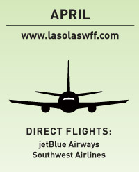 april www.lasolaswff.com direct flights: jetBlue Airways Southwest Airlines