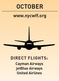 october www.nycwff.org direct flights: Cayman Airways jetBlue Airways United Airlines
