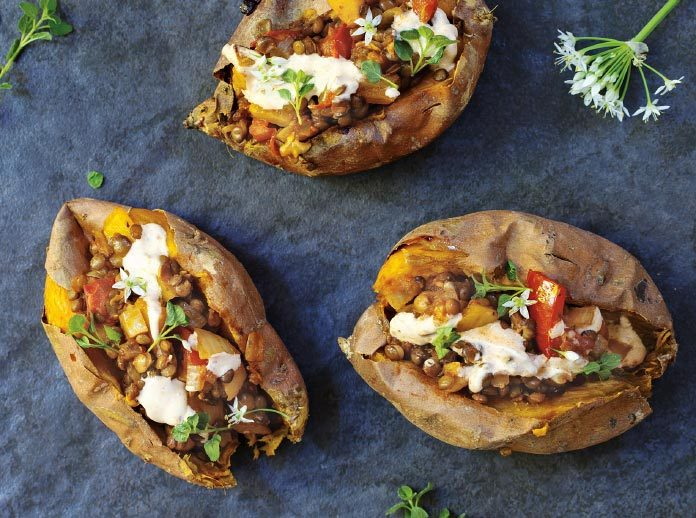Mexicali Stuffed Sweet Potatoes